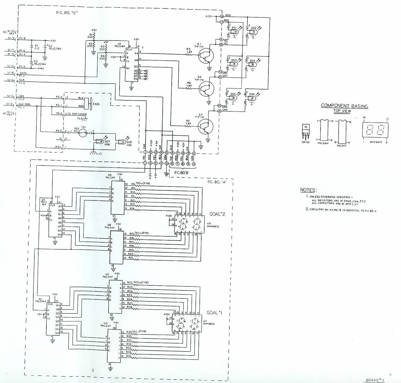 scoreboard wiring diagrams
