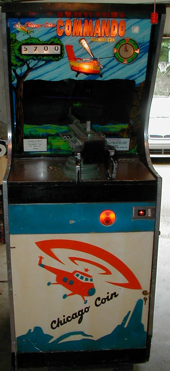 Chicago Coin Commando Machine Gun 1973 Coin Operated