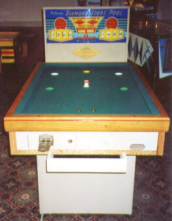 1956 Williams Diamond Score Pool Coin Operated Mechanical