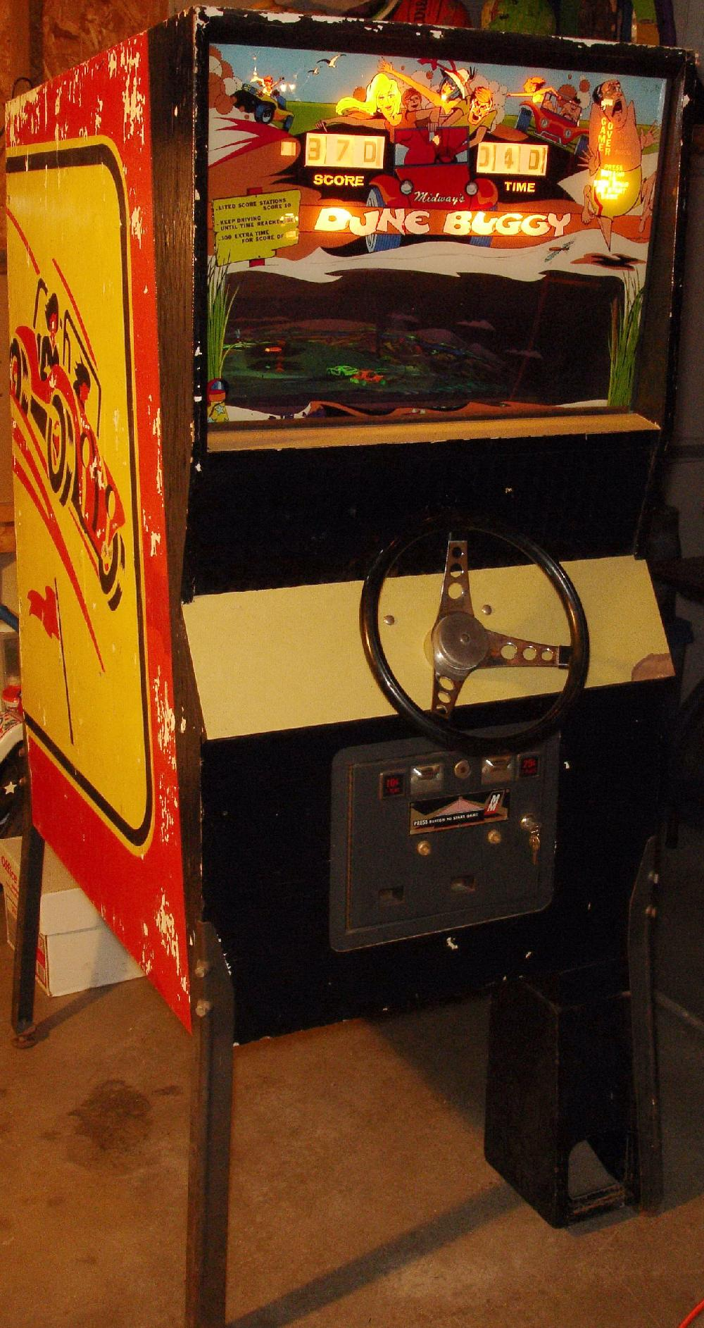 Midway Dune Buggy 1972 coin operated arcade driving game