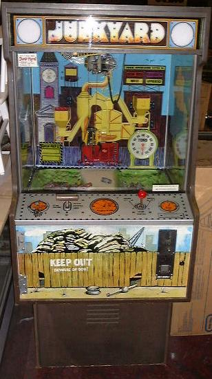 Americoin Junkyard coin operated digger crane arcade game