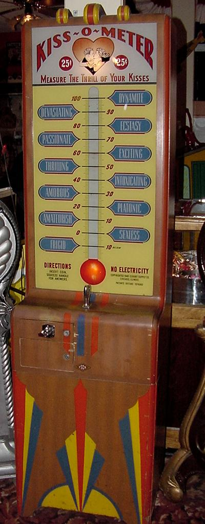 Exhibit Supply Kiss O Meter Coin Operated Arcade Fortune