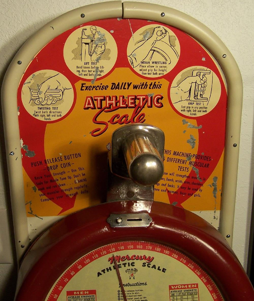 Mercury Athletic Scales Strength Tester Coin Operated