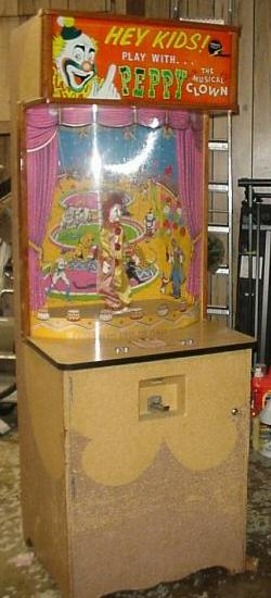 Williams Peppy The Clown 1956 Coin Operated Puppet Arcade Game