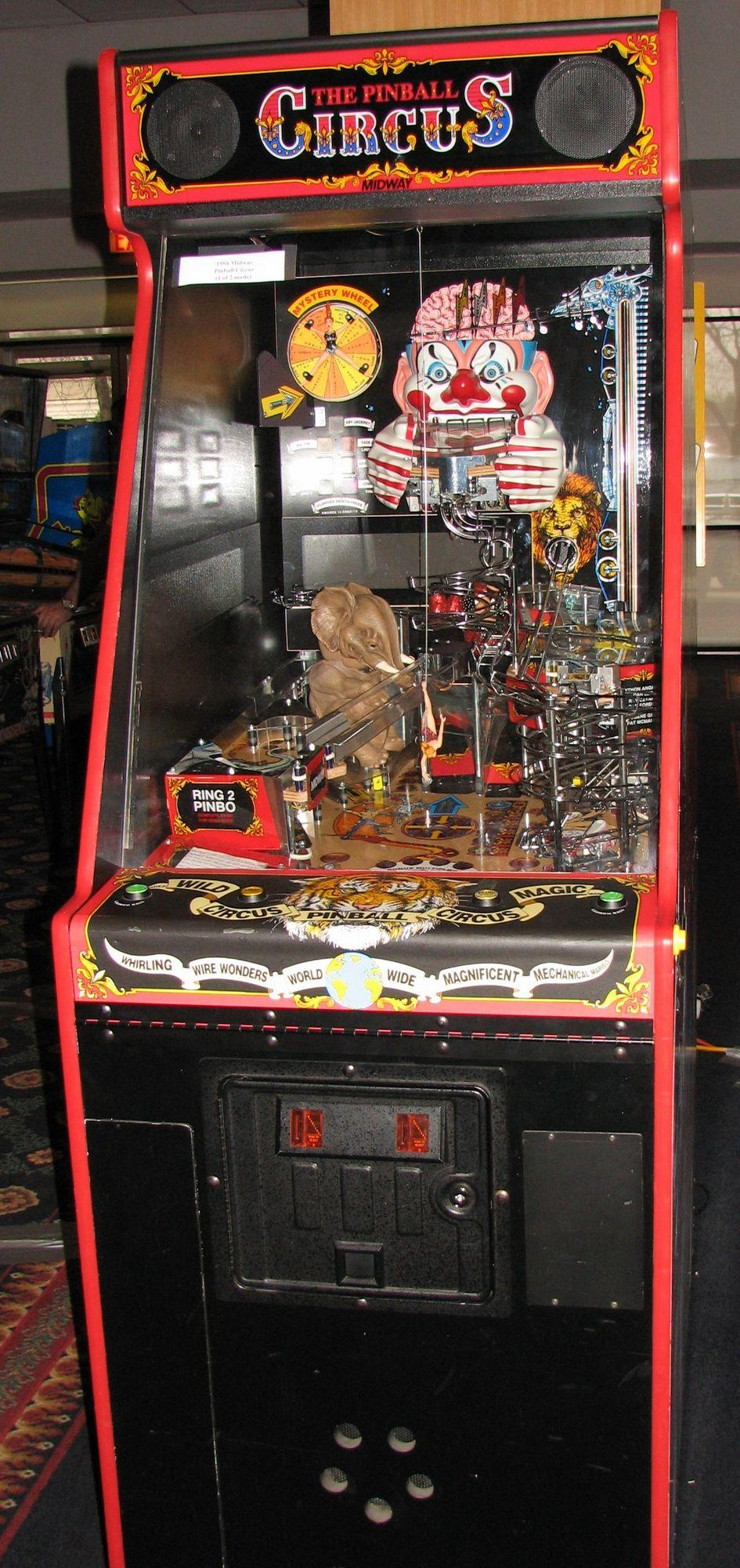 Midway Pinball Circus 1994 Williams Bally coin operated