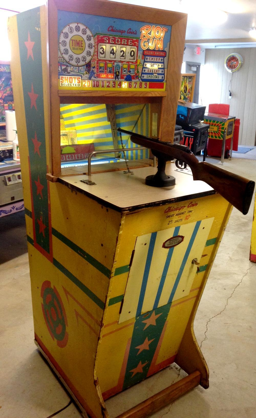 Pop Machine For Sale >> 1963 Chicago Coin Machine Riot Gun coin operated mechanical arcade gun game rifle range
