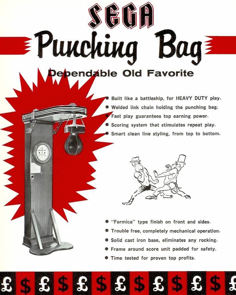 Sega Punching Bag arcade boxing punching strength boxing game