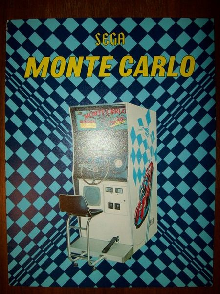 Sega Monte Carlo Coin Operated Arcade Game