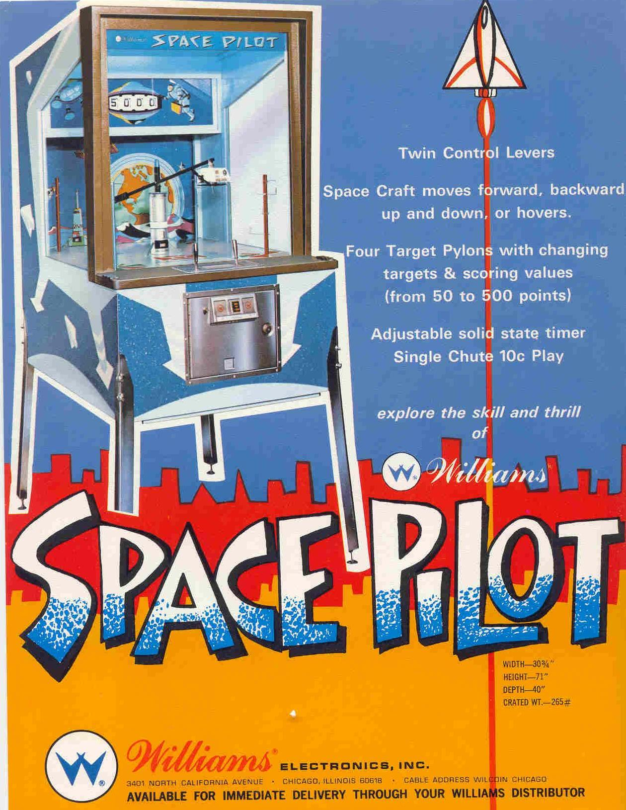 1968 Williams Space Pilot coin operated arcade space game