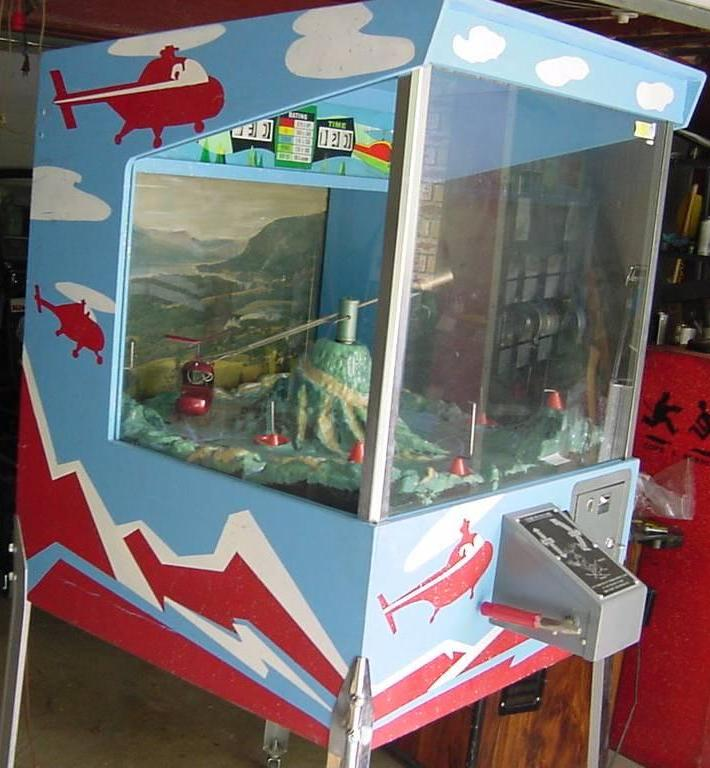 1969 Midway Whirly Bird Coin Operated Helicopter Game
