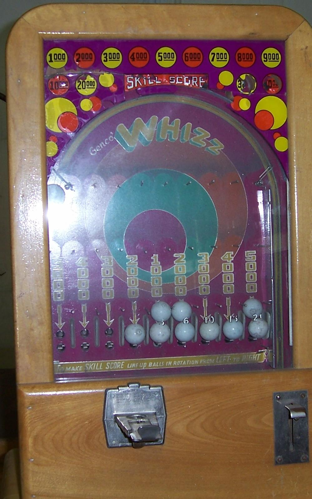 1946 Genco Whizz Coin Operated Arcade Game