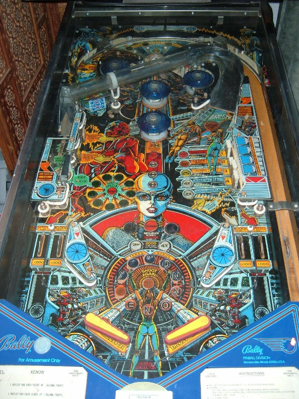 xenon pinball machine for sale