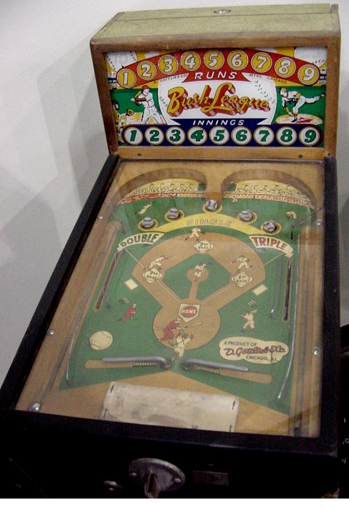 Gottlieb Bush League Baseball 1951 Arcade Pinball Game