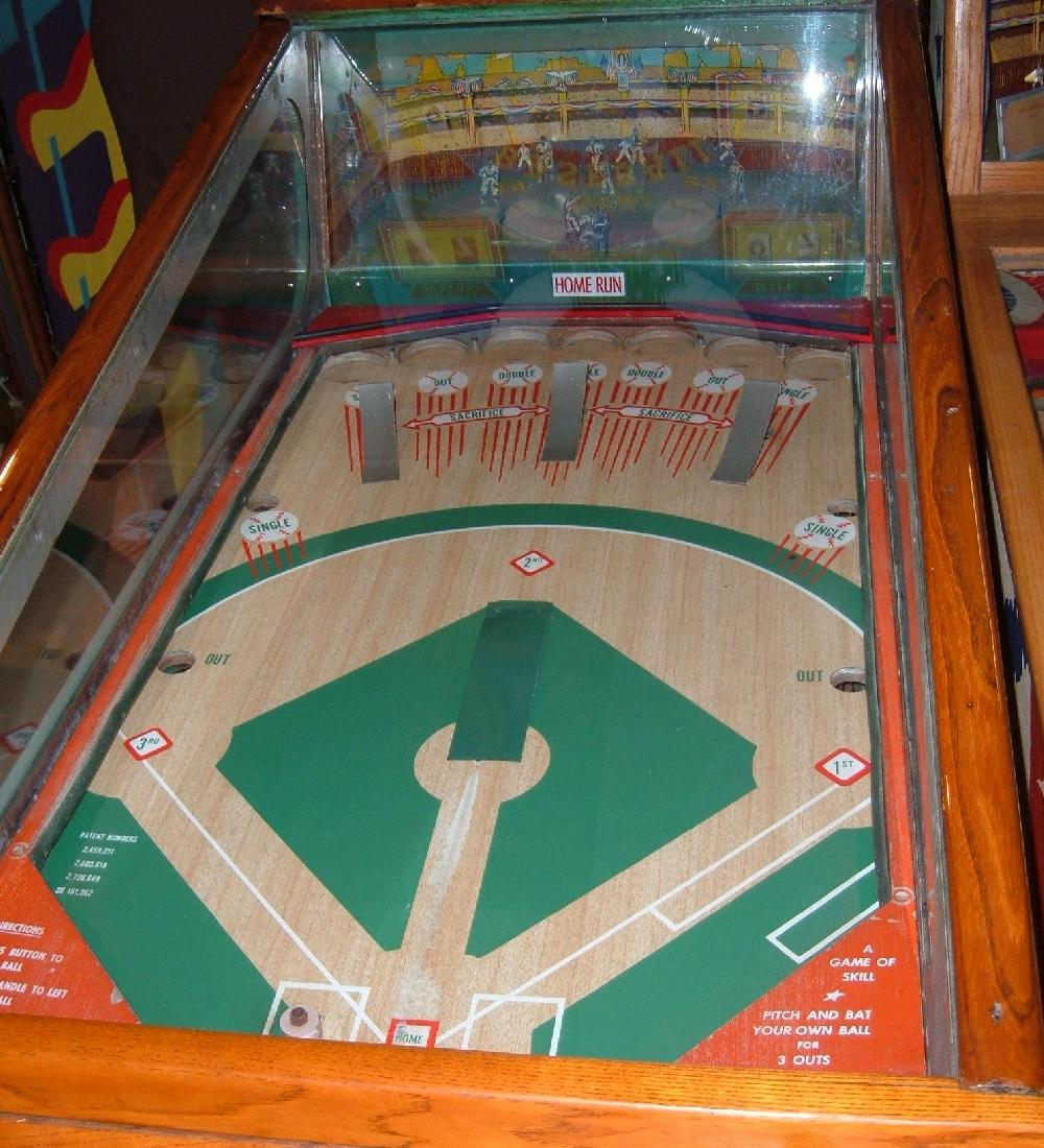 Williams Deluxe Baseball Pitch And Bat Arcade Pinball Game