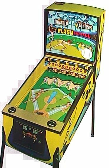 1972 midway flash baseball pinball arcade game