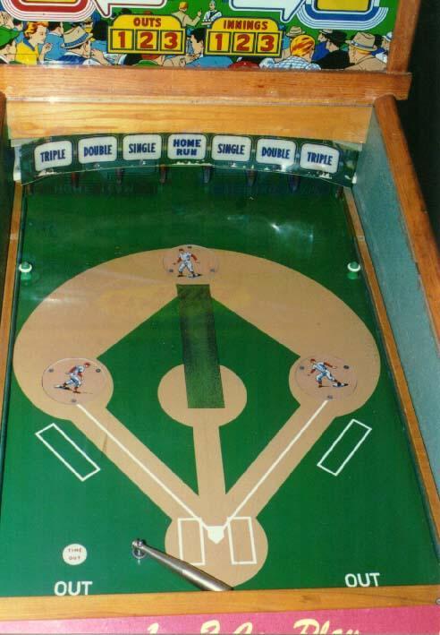1959 Bally Heavy Hitter Pitch And Bat Pinball Arcade Game