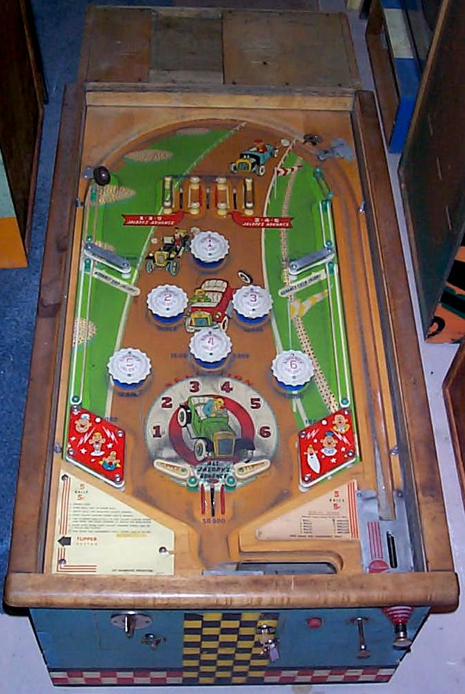 Race Car For Sale >> Williams Jalopy pinball 1951 coin operated pinball arcade game