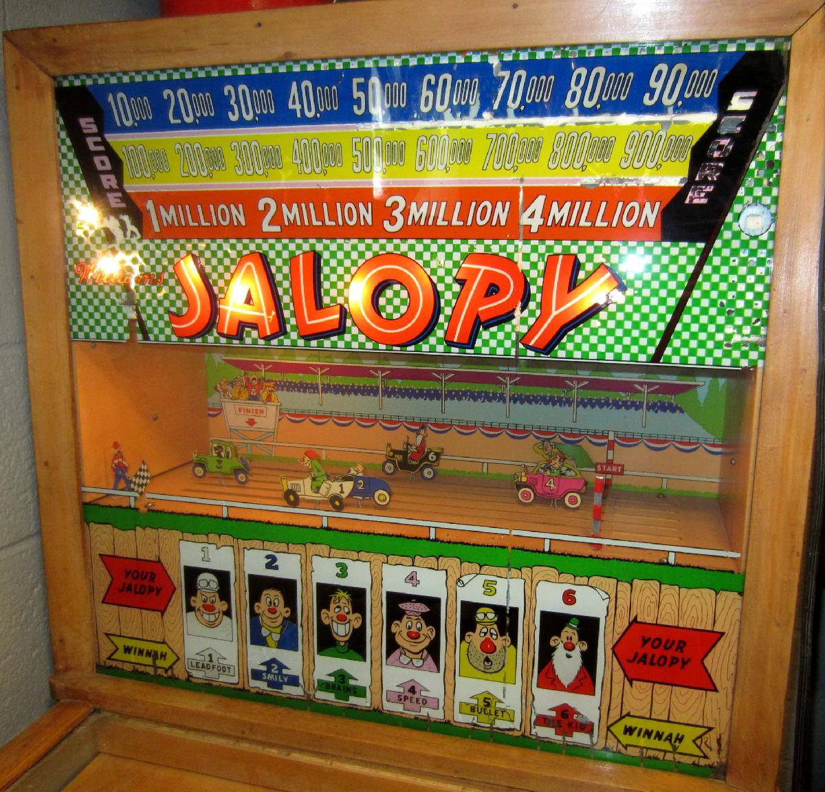 Vintage Arcade Games >> Williams Jalopy pinball 1951 coin operated pinball arcade game