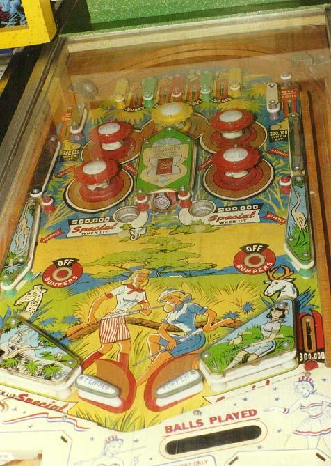 Williams Jungle 1960 Pinball Arcade Game Machine