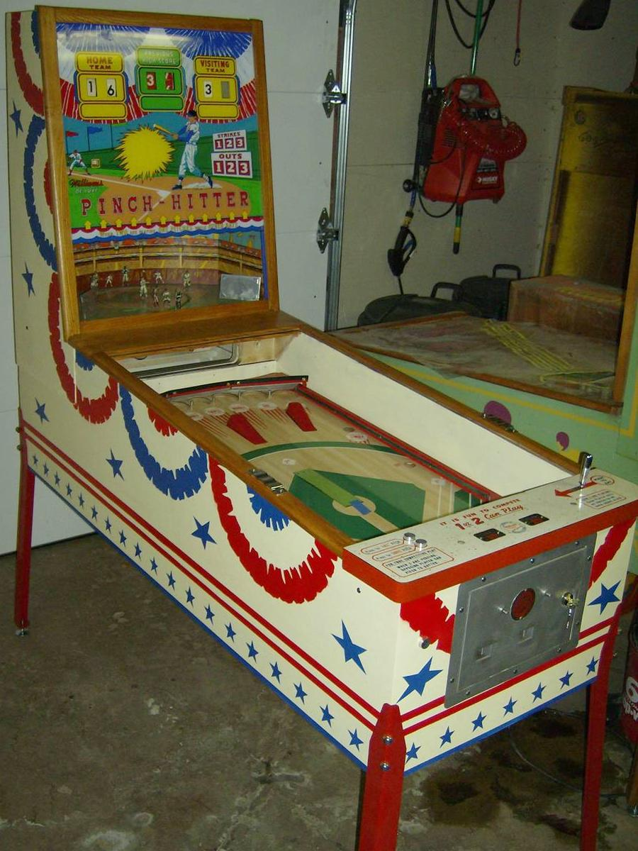 deluxe pitch hitter pinball Machine by williams Schematic Original from 1959