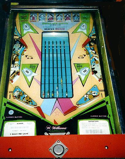 1972 Williams Winner Pinball Arcade Game