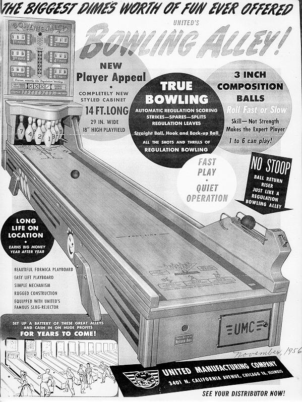 bowlall united chicago coin bally ball bowler bowling machine shuffle  at mifinder.co