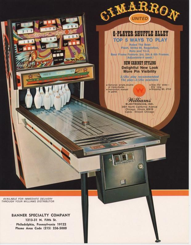 chicago coin bowling machine