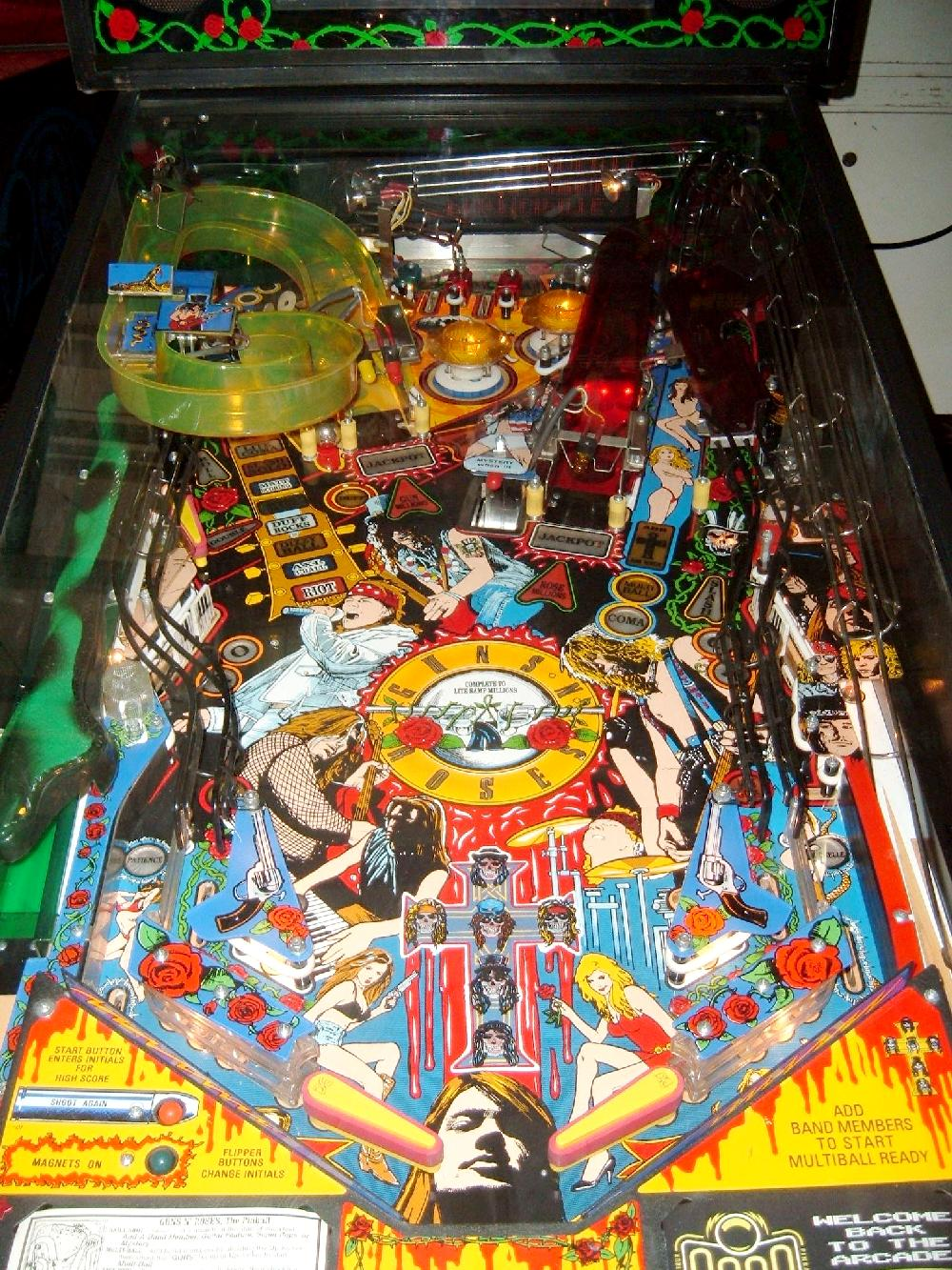 guns n roses pinball machine for sale
