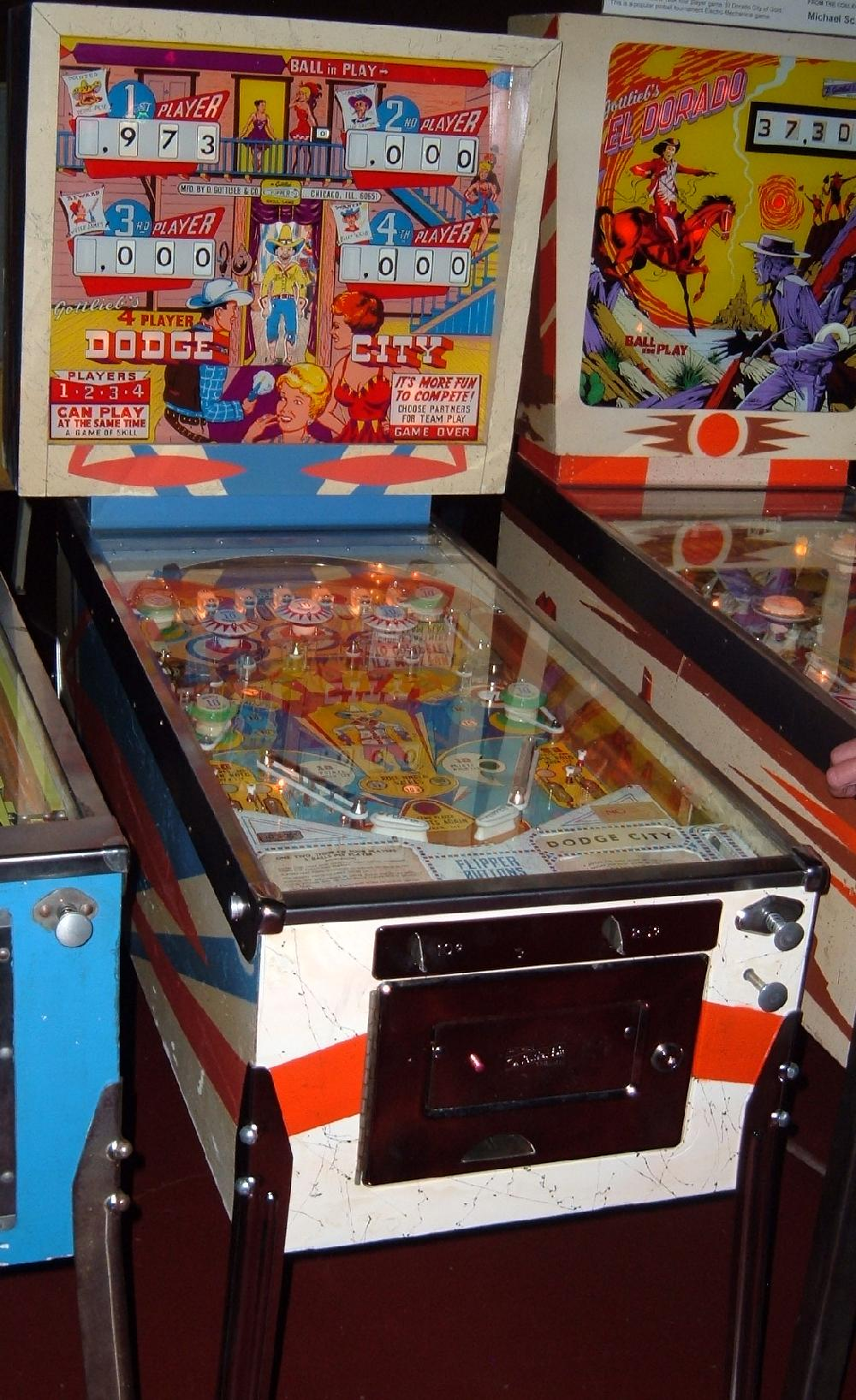 gottlieb dodge city pinball machine collector buying