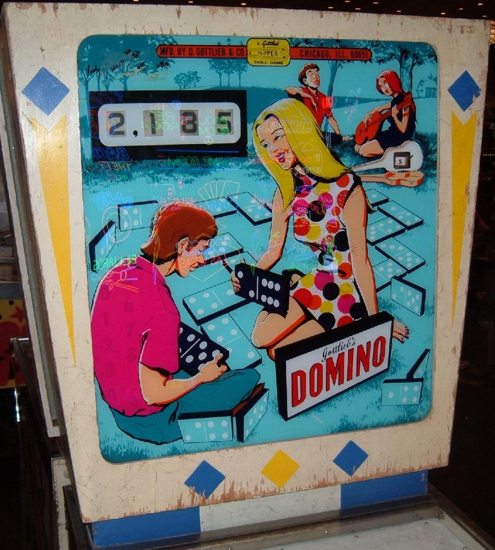 gottlieb domino pinball machine