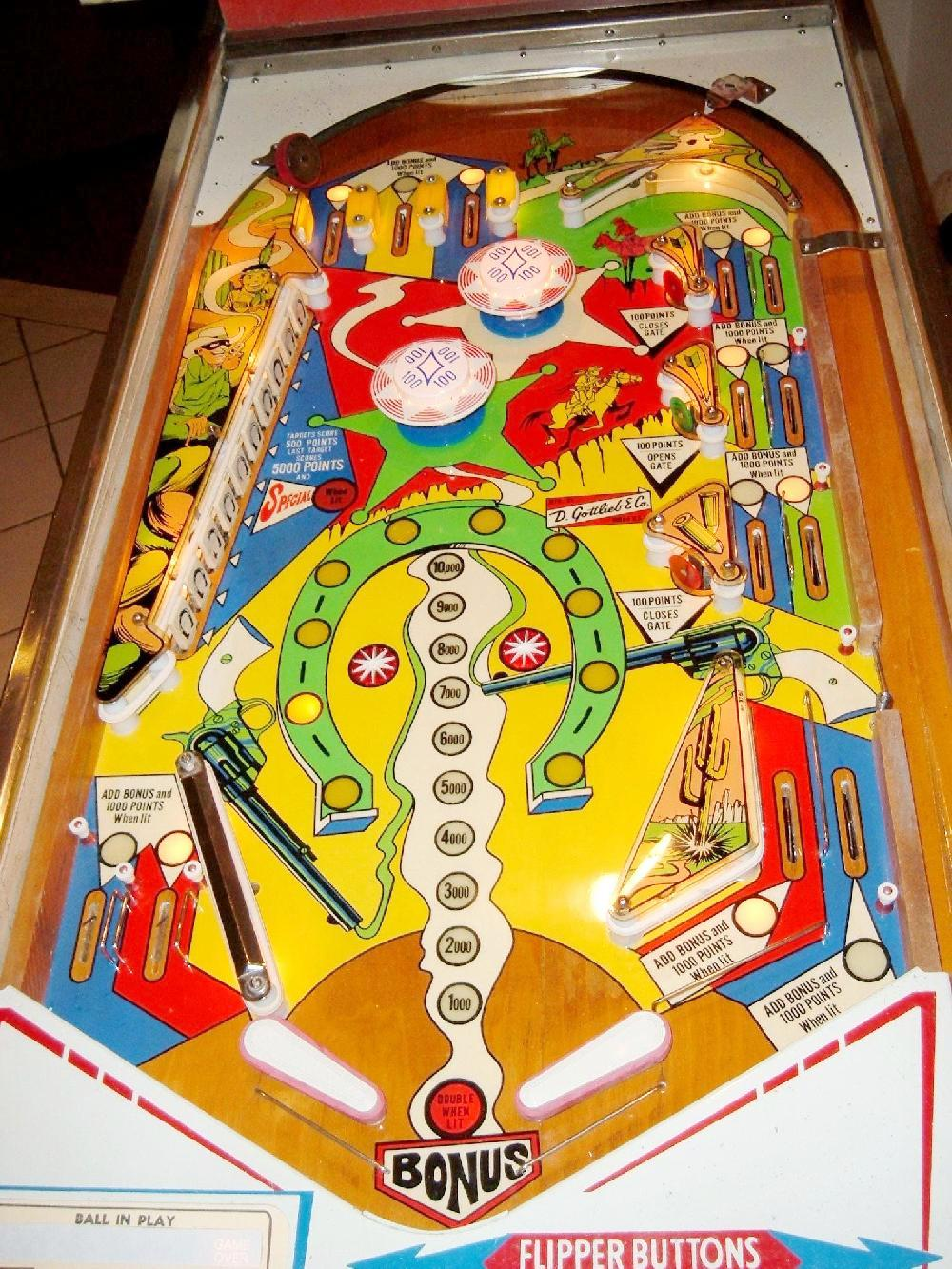 Gottlieb Lawman Pinball Machine 1971 Law Man Collector
