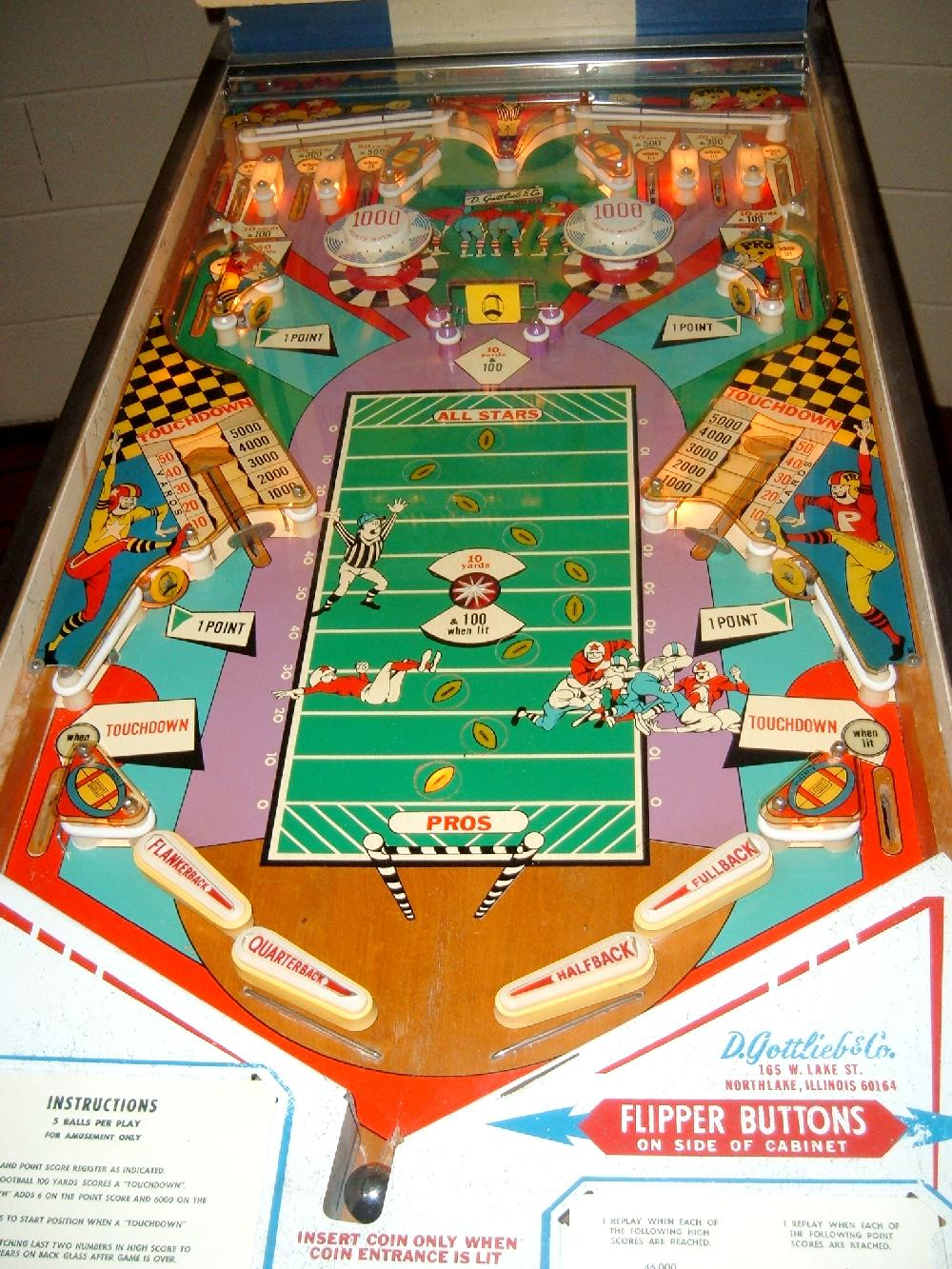 Gottlieb Pro Football pinball - collector buying