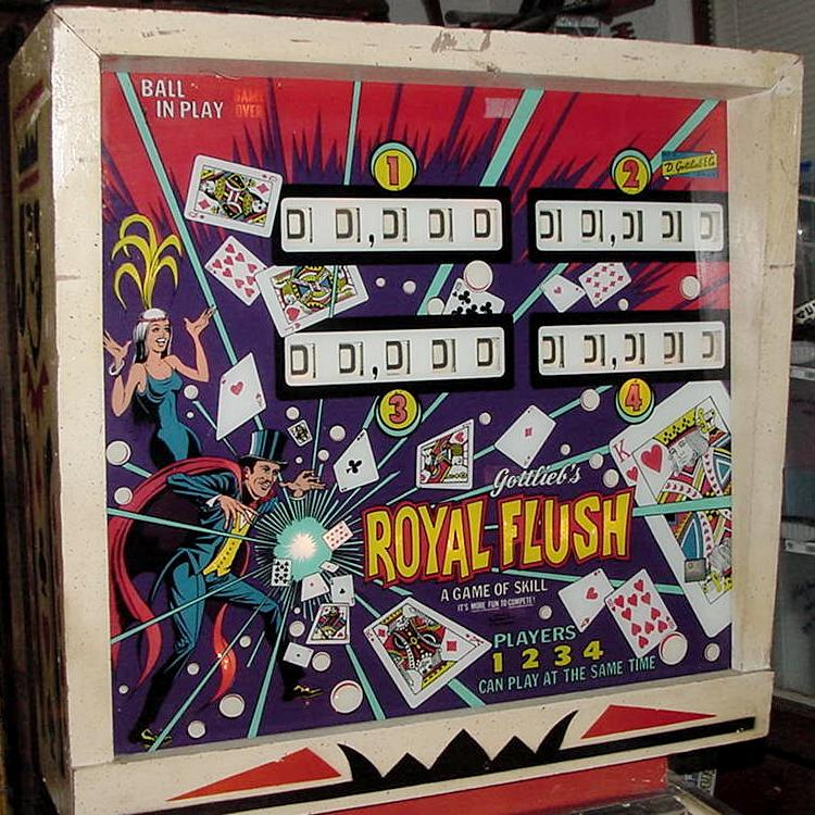 gottlieb royal flush pinball machine for sale