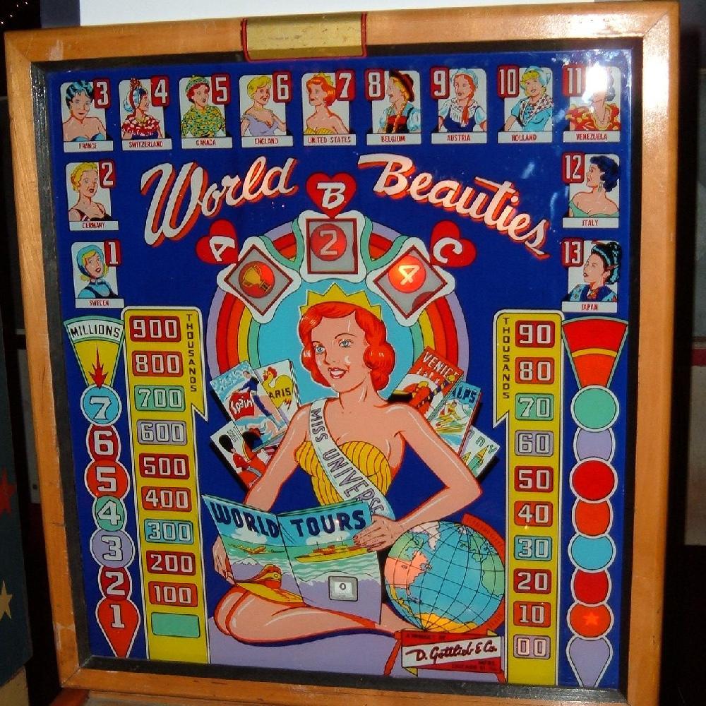 Gottlieb World Beauties 1960 Coin Operated Pinball
