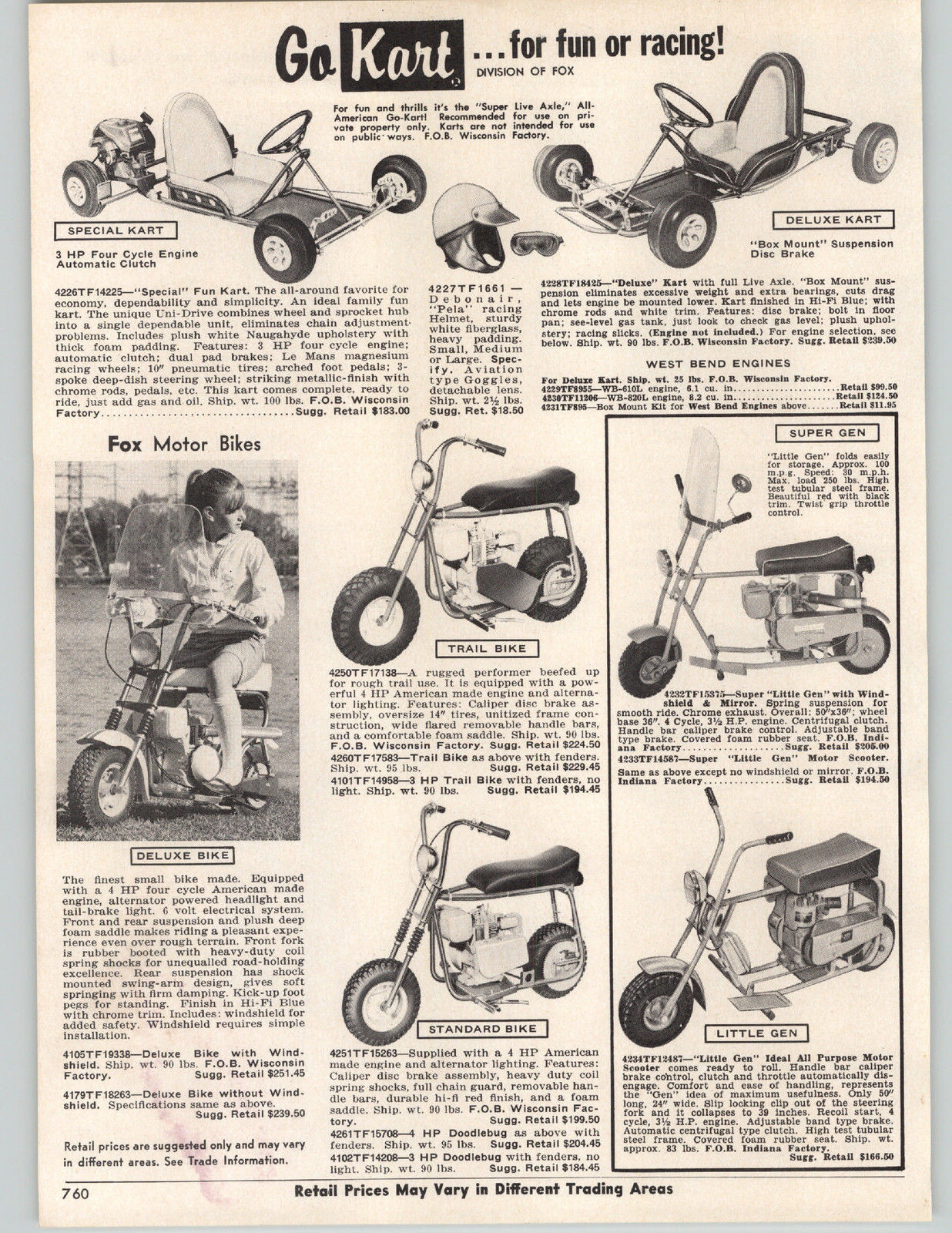 Mini Bike Minibike Advertising Rupp Ruttman Fox Honda Lil Indian ...