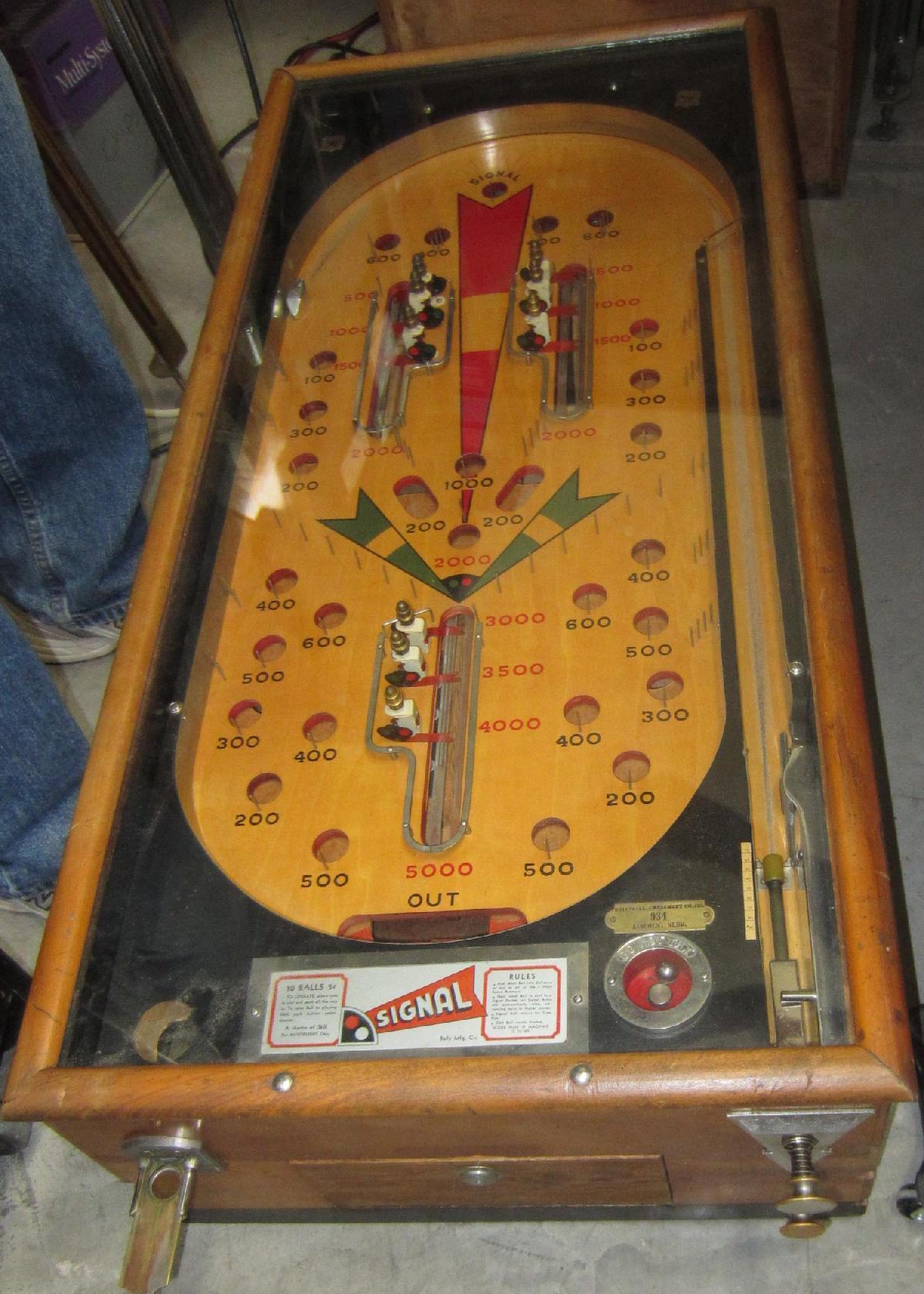 1934 Bally Signal Pinball Fully Mechanical Pre Ww2