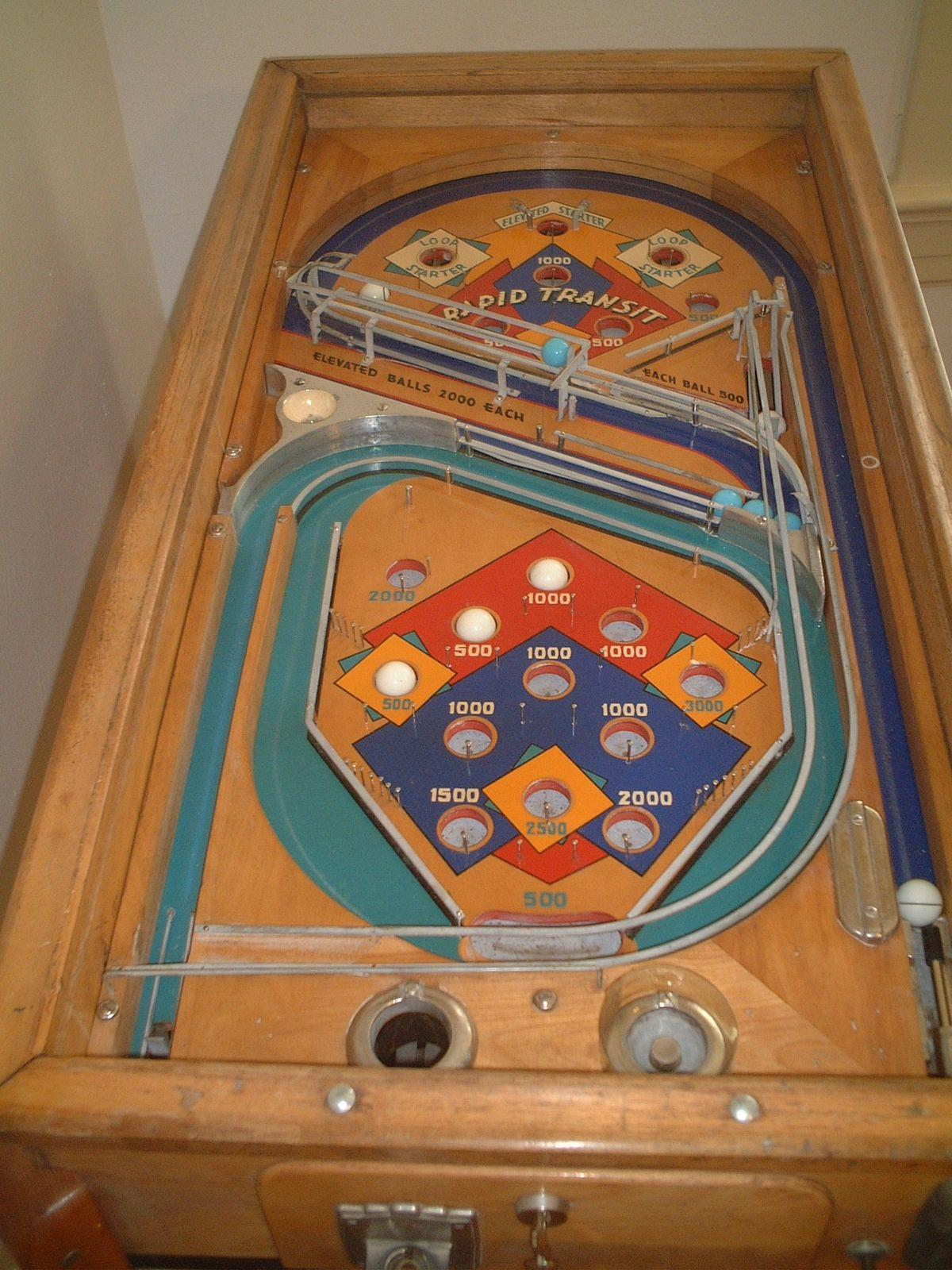 1935 Chicago Coin Ccm Rapid Transit Pinball Fully