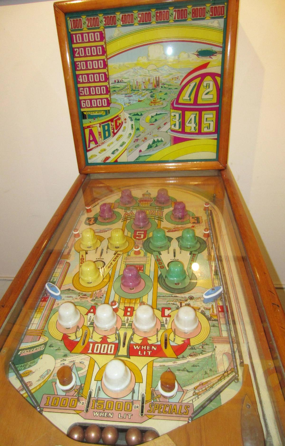 1940 Genco Metro Pinball Mechanical Pre Ww2 Collector Buying