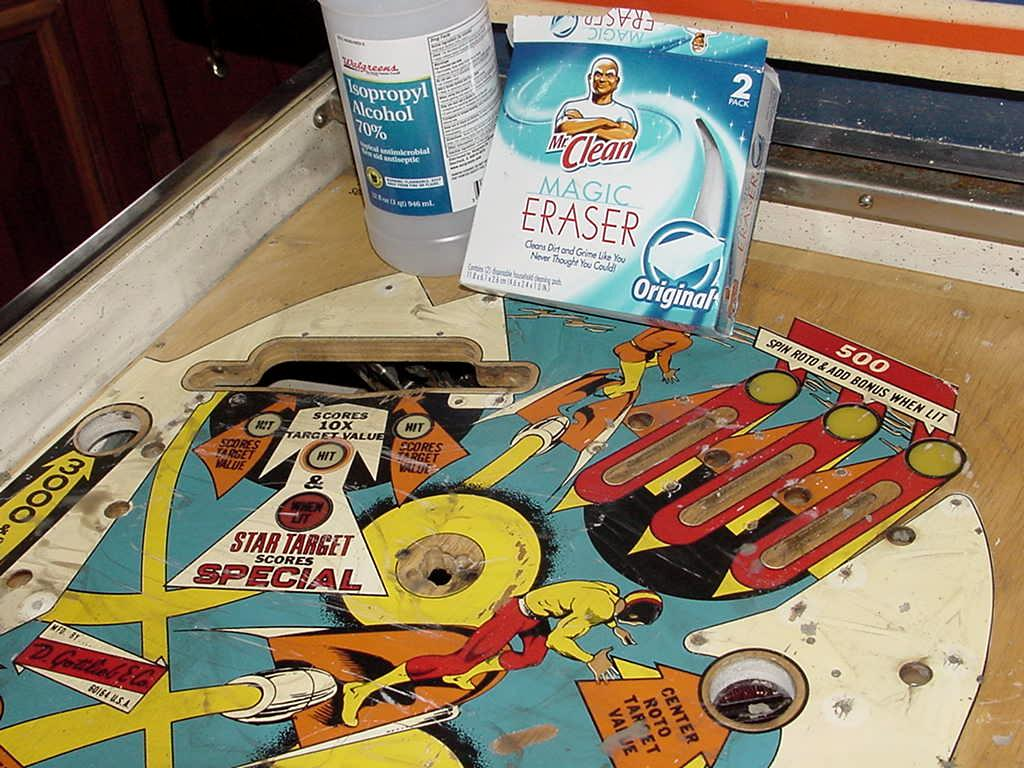 pinball restoring a gottlieb jet spin jetspin pinball playfield from 1977. Black Bedroom Furniture Sets. Home Design Ideas