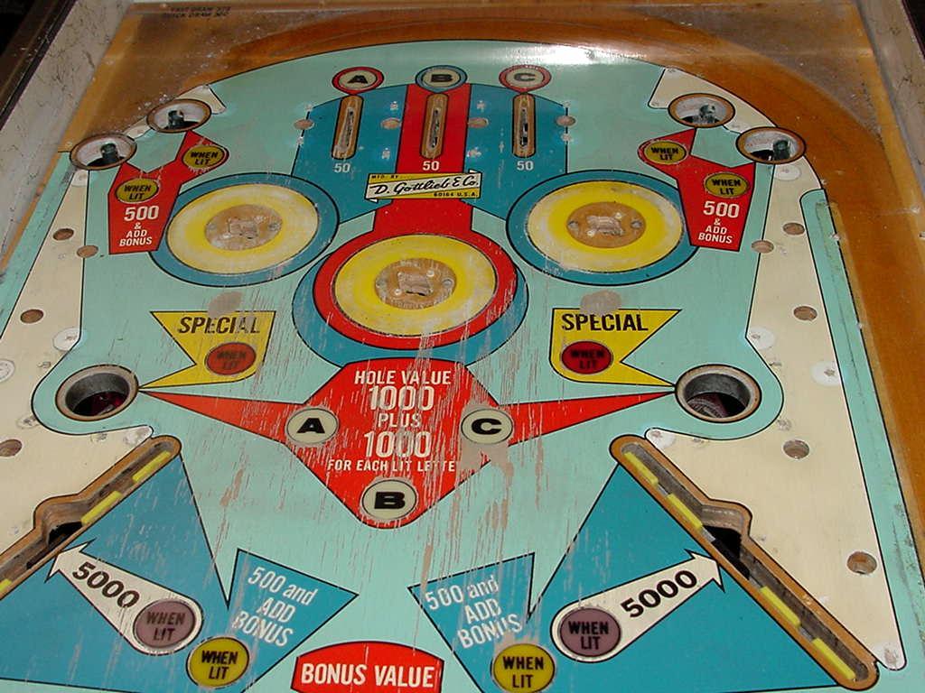 Gottlieb Pinball Machine Playfield Pop Bumper Cap Plastic Fast Quick Draw