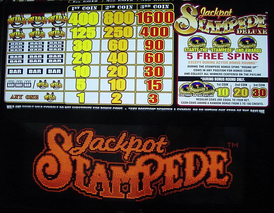 stampede deluxe slot machine