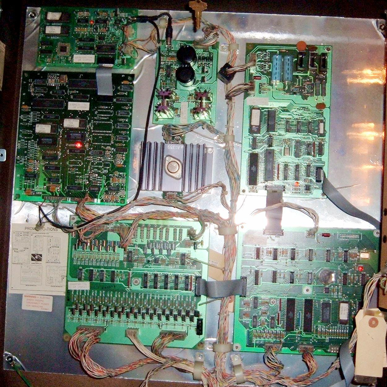 Pinball Gottlieb System 3 System3 Repair 1989 1996 Txt 36 Volt Battery Wiring Diagram The Backbox In A Cueball Wizard Showing All Circuit Boards