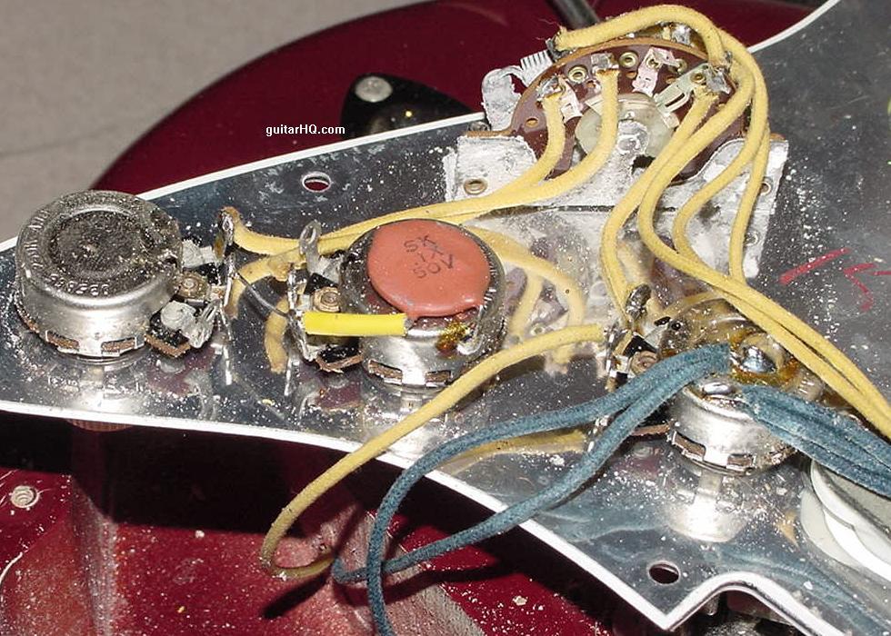 1966 fender stratocaster guitar 1966 fender strat guitar 66 rh guitarhq com vintage stratocaster wiring diagram fender vintage wiring kit