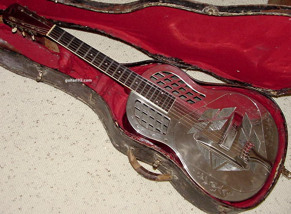 national tricone style 2 triplate resonator dobro guitar info vintage 1927 to 1942. Black Bedroom Furniture Sets. Home Design Ideas