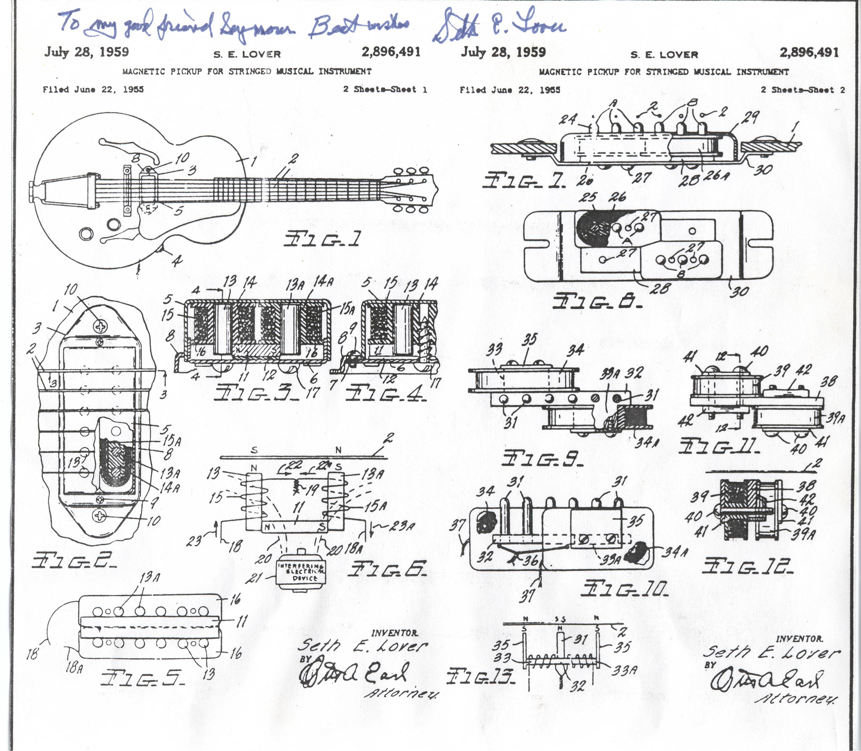 Gibson Es 175 Wiring Diagram Library Vintage Diagrams Seth Lover Interview 1978 Paf Humbucking Humbucker Pickups Guitars
