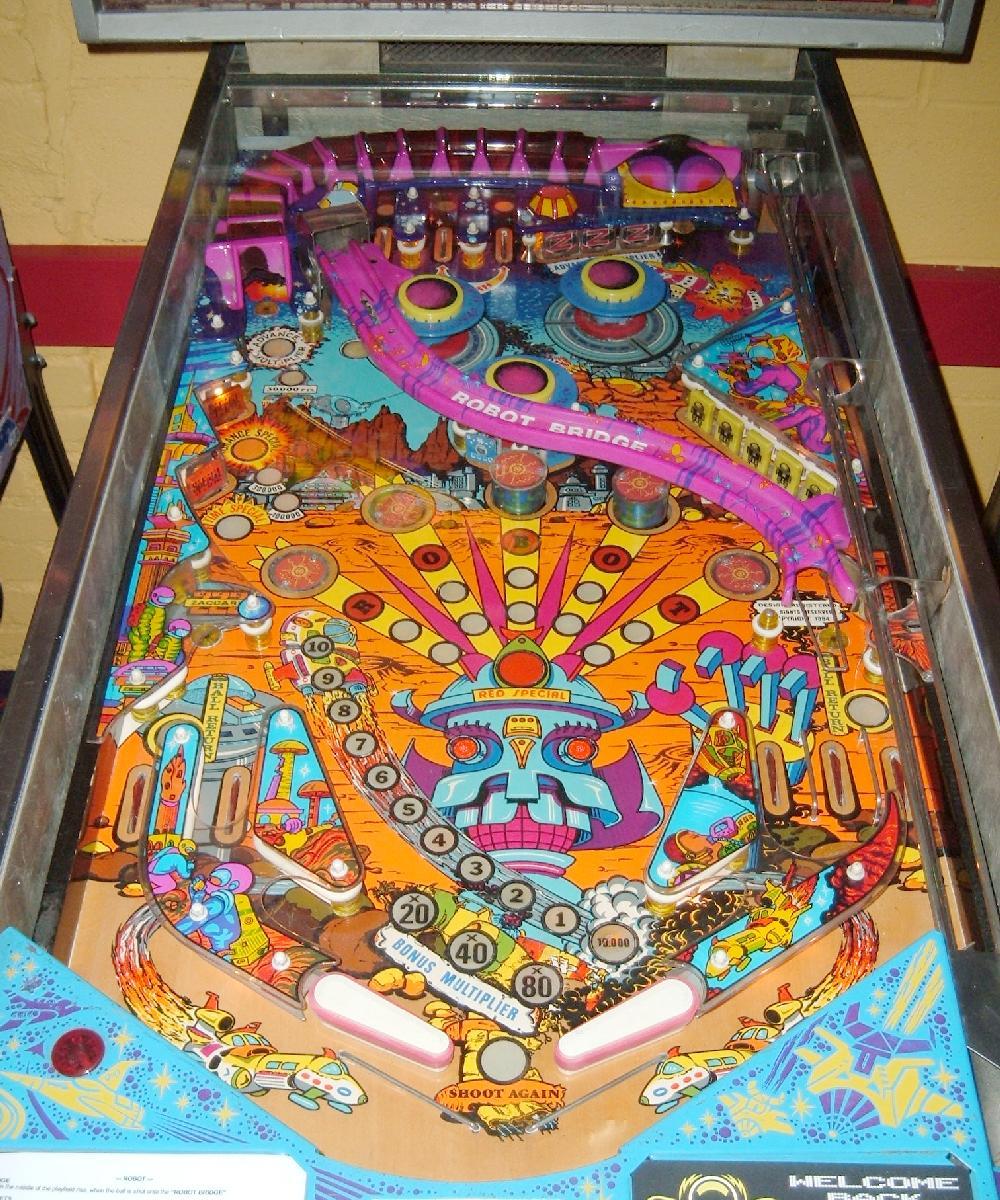 Zaccaria Robot Pinball Machine 1985 Coin Operated Arcade Game