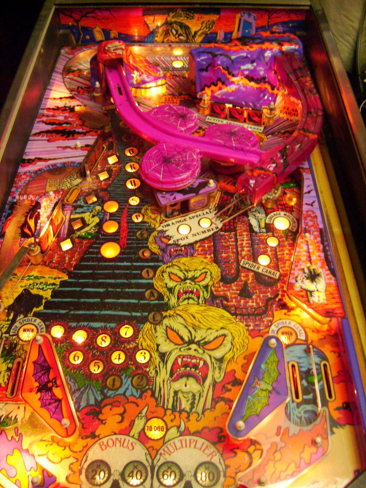 Zaccaria Spooky Pinball Machine 1987 Coin Operated Arcade Game